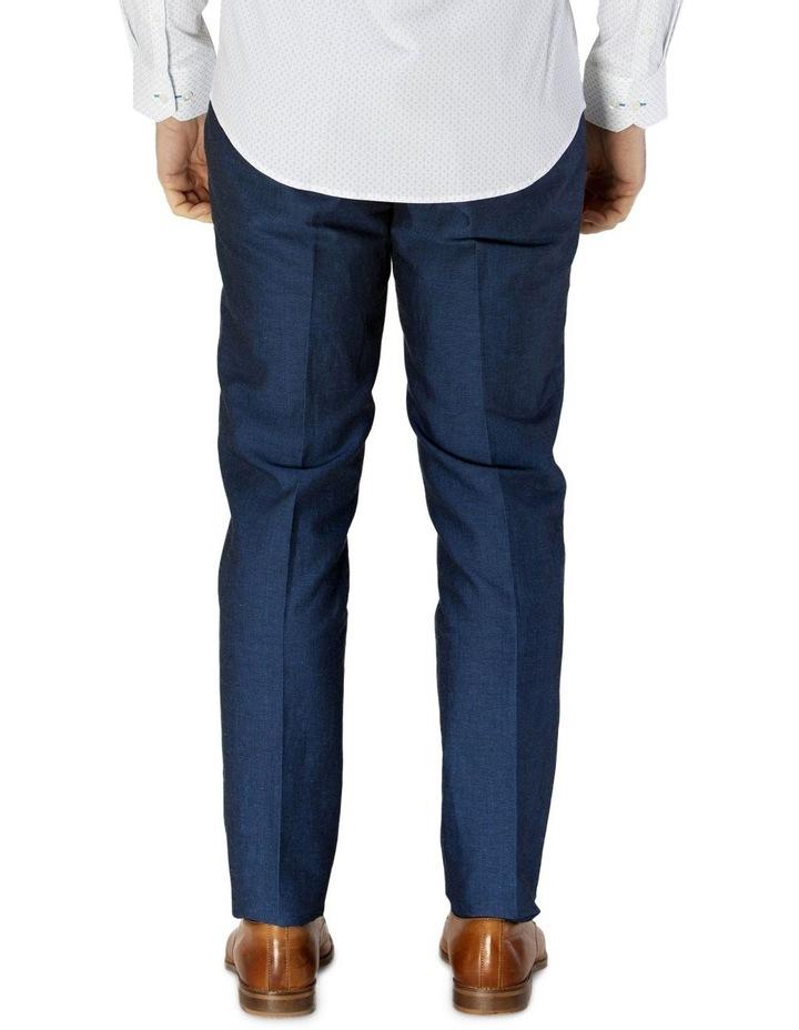 Linen Blend Textured Plain Trouser image 3