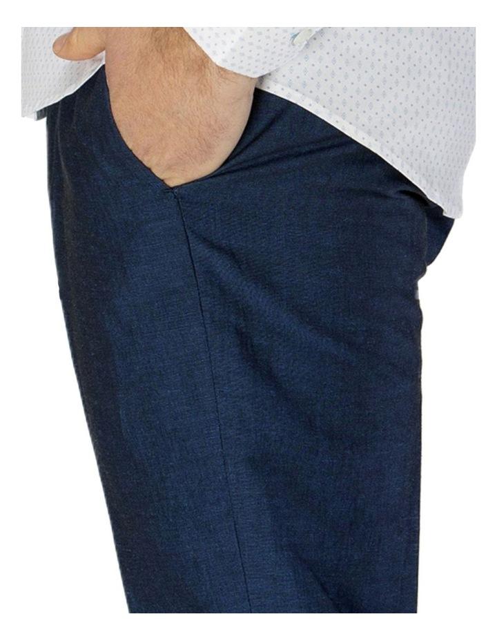 Linen Blend Textured Plain Trouser image 4