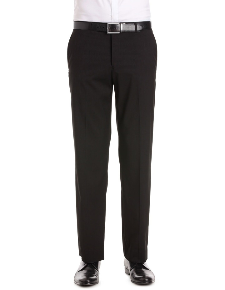 Self Stripe Flat Front Formal Trouser image 1