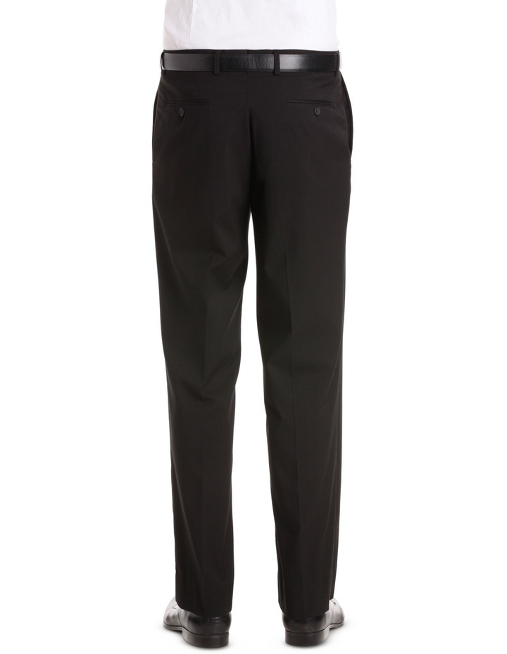 Self Stripe Flat Front Formal Trouser image 3