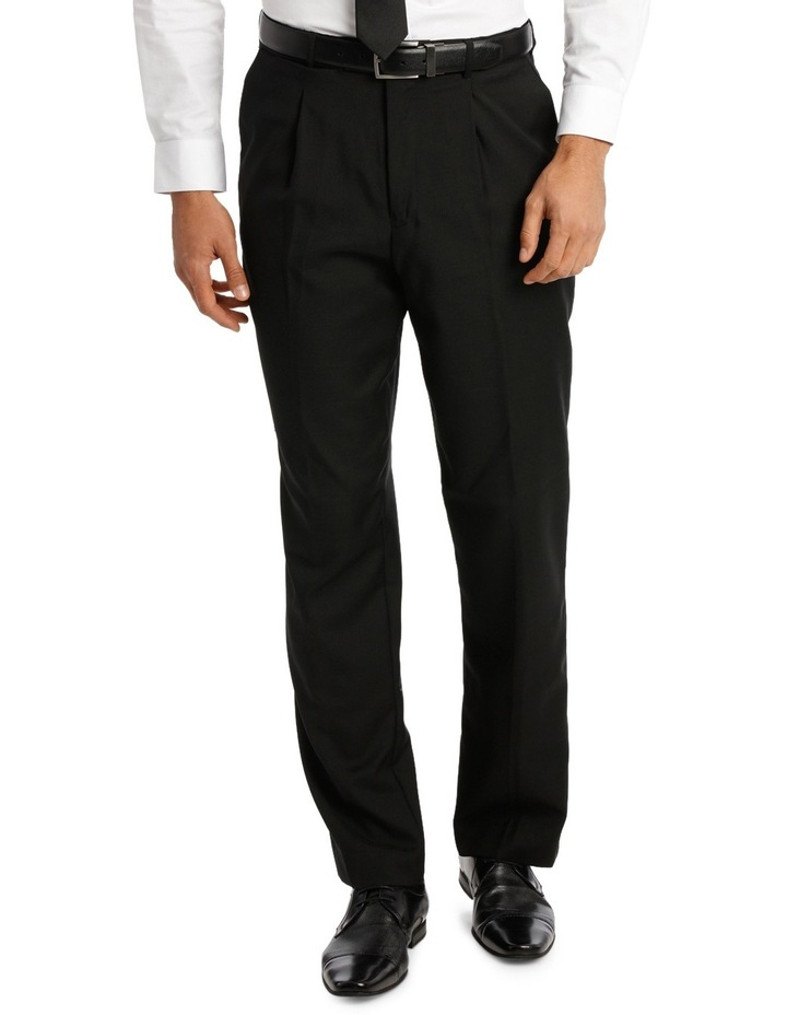 Relaxed Fit Easy Care Single Pleat Navy Business Trouser image 1