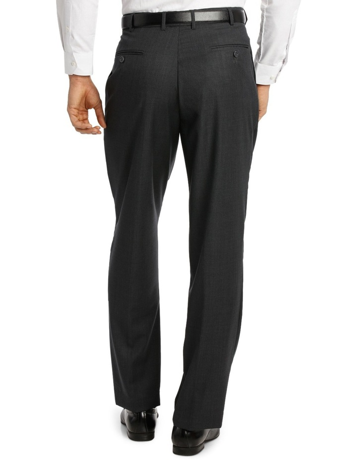 Relaxed Fit Easy Care Single Pleat Charcoal Business Trouser image 3