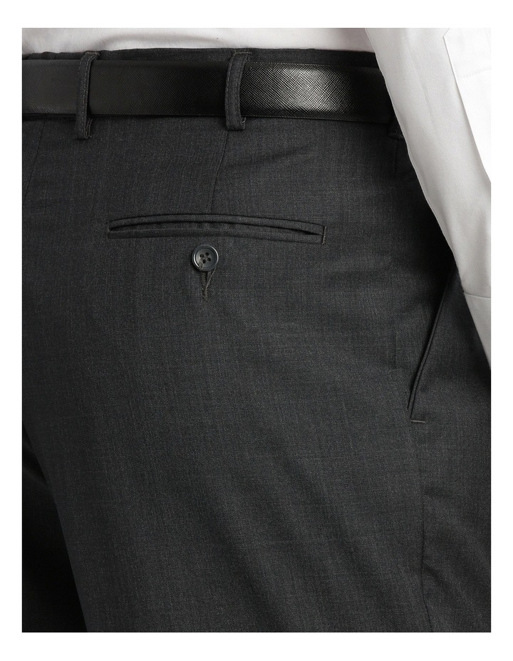 Relaxed Fit Easy Care Single Pleat Charcoal Business Trouser image 4