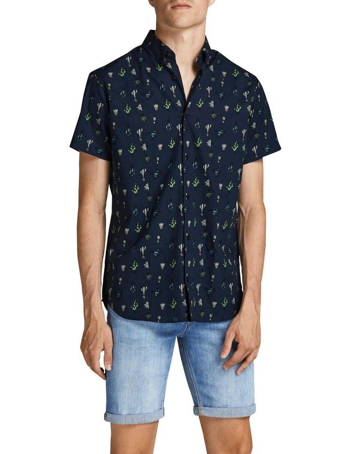 Kaktus Short Sleeve Shirt Navy image 1