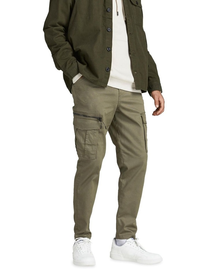 Ace Dex Tapered Cargo Pants Dusty Olive image 1