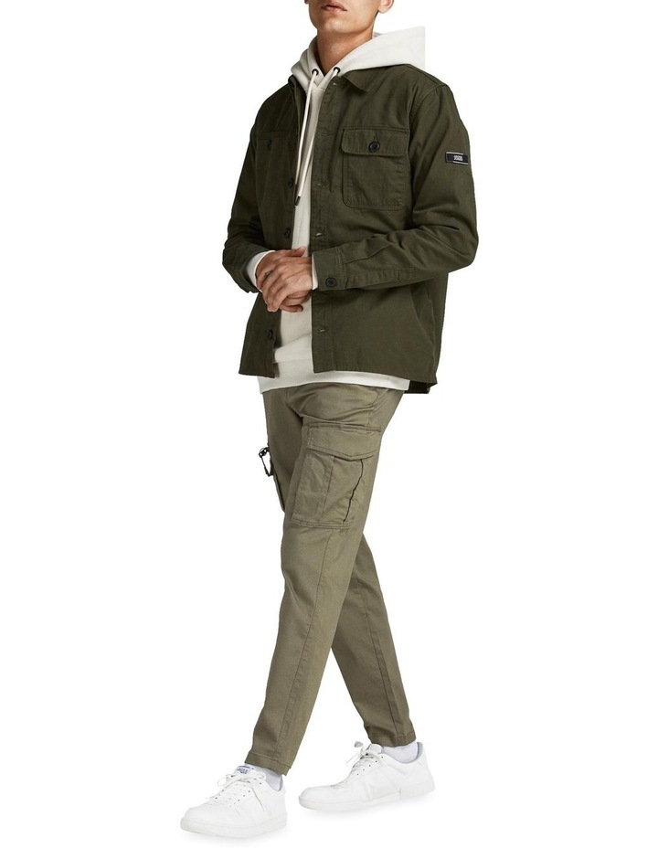 Ace Dex Tapered Cargo Pants Dusty Olive image 3