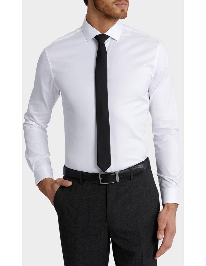 Slim Fit Dinner Self Stripe Business Shirt image 1