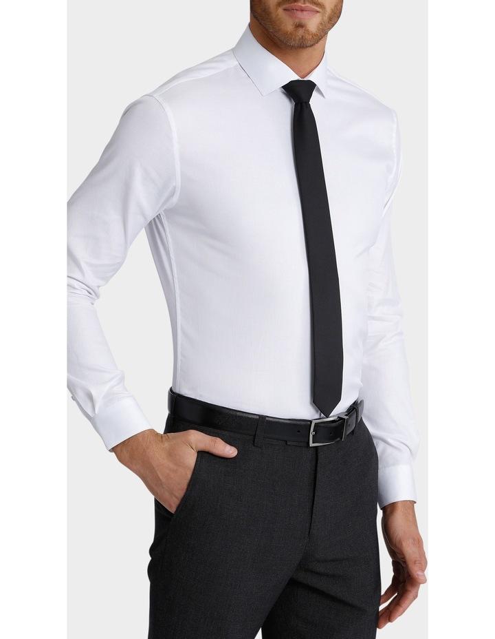 Slim Fit Dinner Self Stripe Business Shirt image 3