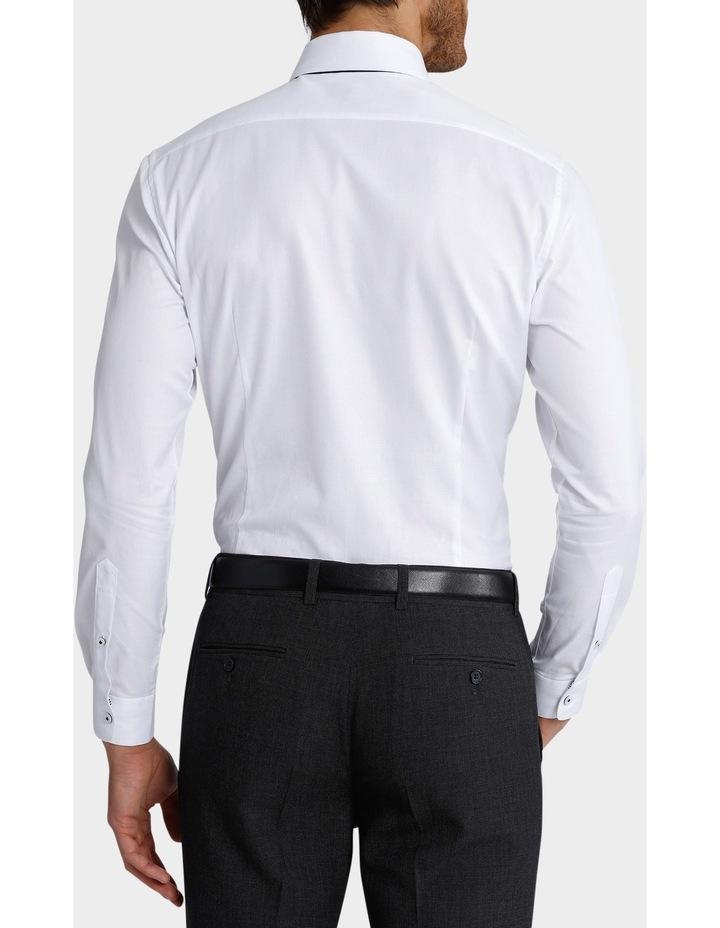 Slim Fit Dinner Self Stripe Business Shirt image 5