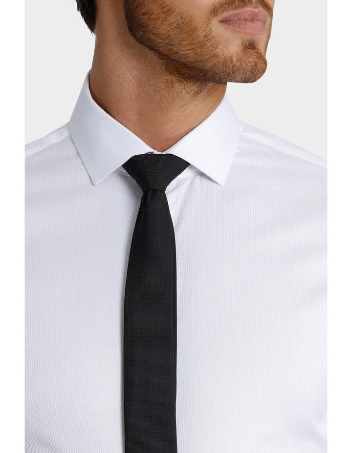 Slim Fit Dinner Self Stripe Business Shirt image 7