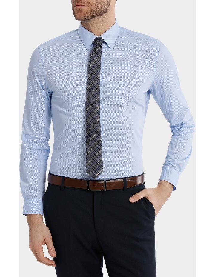 Slim Fit Half Moon Print Business Shirt image 1