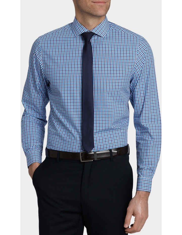 Tailored Fit Gingham Business Shirt image 1