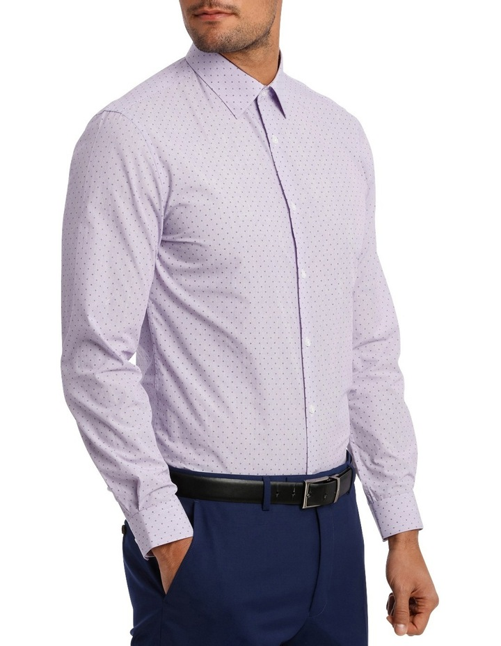 Slim Fit Lilac Fine Stripe With Spot image 3
