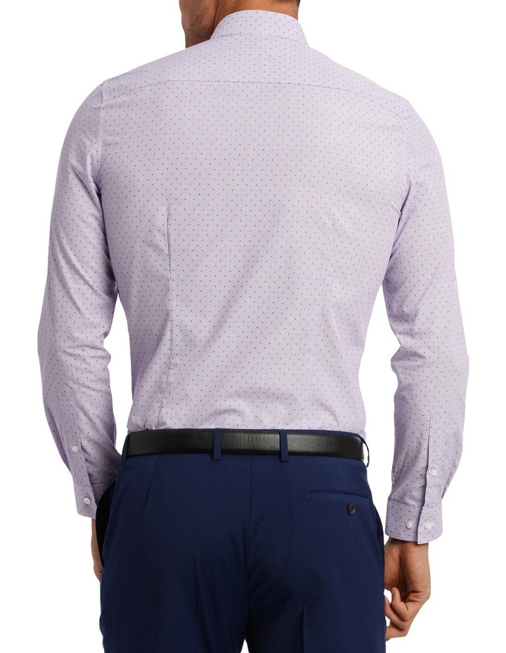 Slim Fit Lilac Fine Stripe With Spot image 5