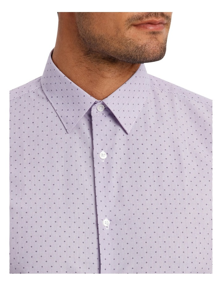 Slim Fit Lilac Fine Stripe With Spot image 7