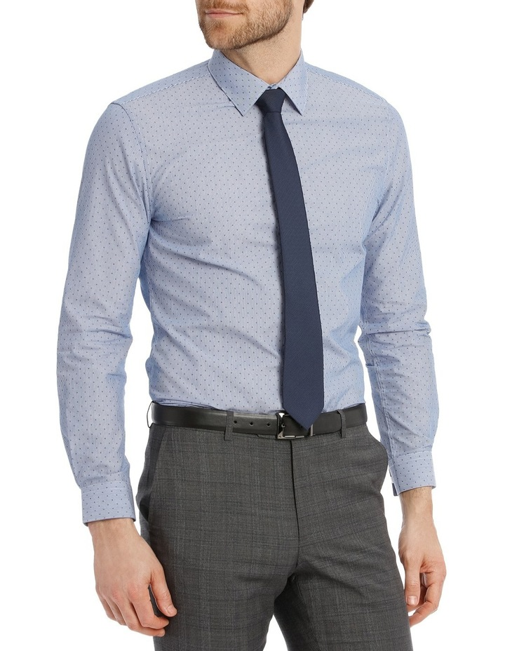 Slim Fit Blue Fine Stripe With Spot image 3
