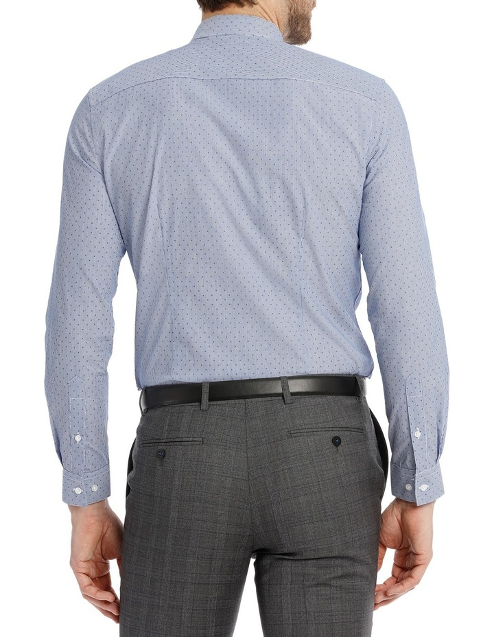 Slim Fit Blue Fine Stripe With Spot image 5