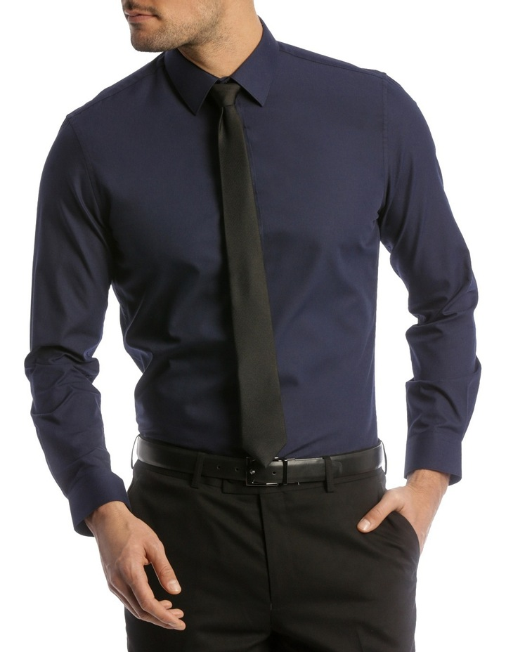 Slim Fit Twill Business Shirt image 1