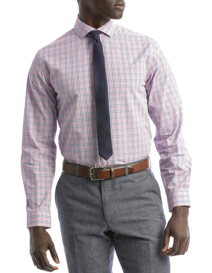 Tailored Fit Pink And Blue Multi Check image 1