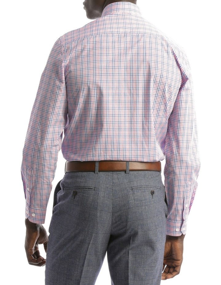Tailored Fit Pink And Blue Multi Check image 3