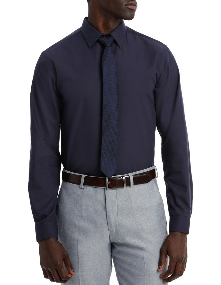 Tailored Fit Navy Twill image 1
