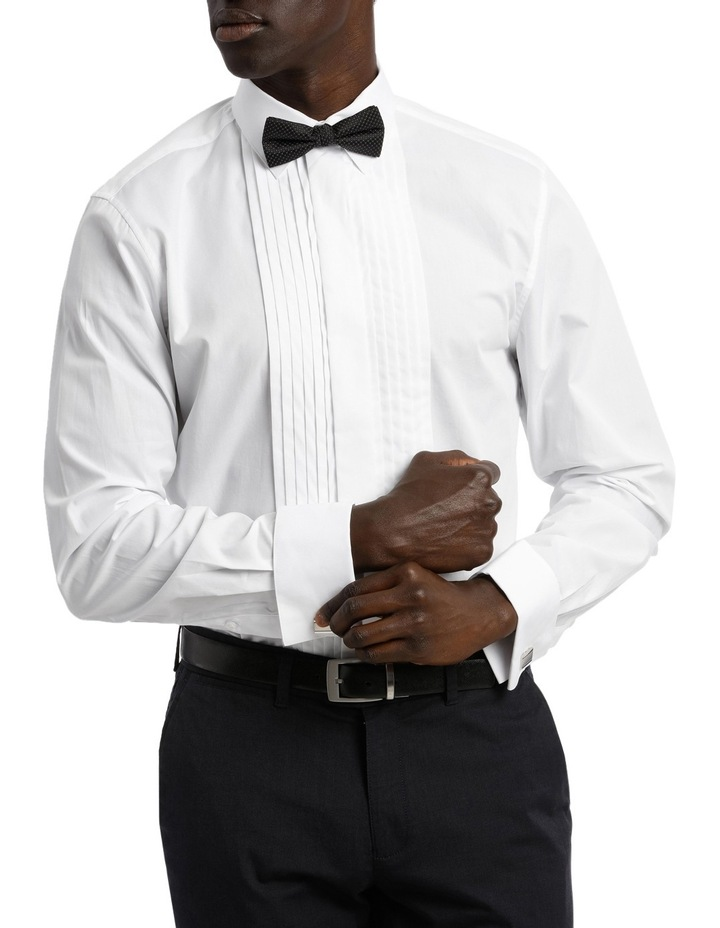 Tailored Fit Pleat Front Dress Shirt image 1