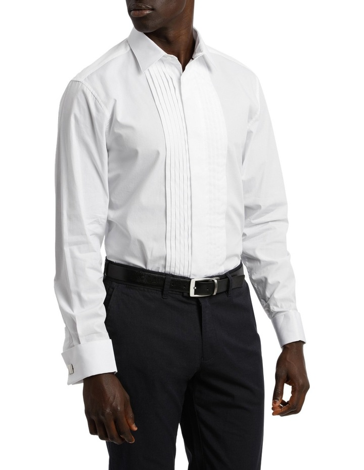 Tailored Fit Pleat Front Dress Shirt image 3