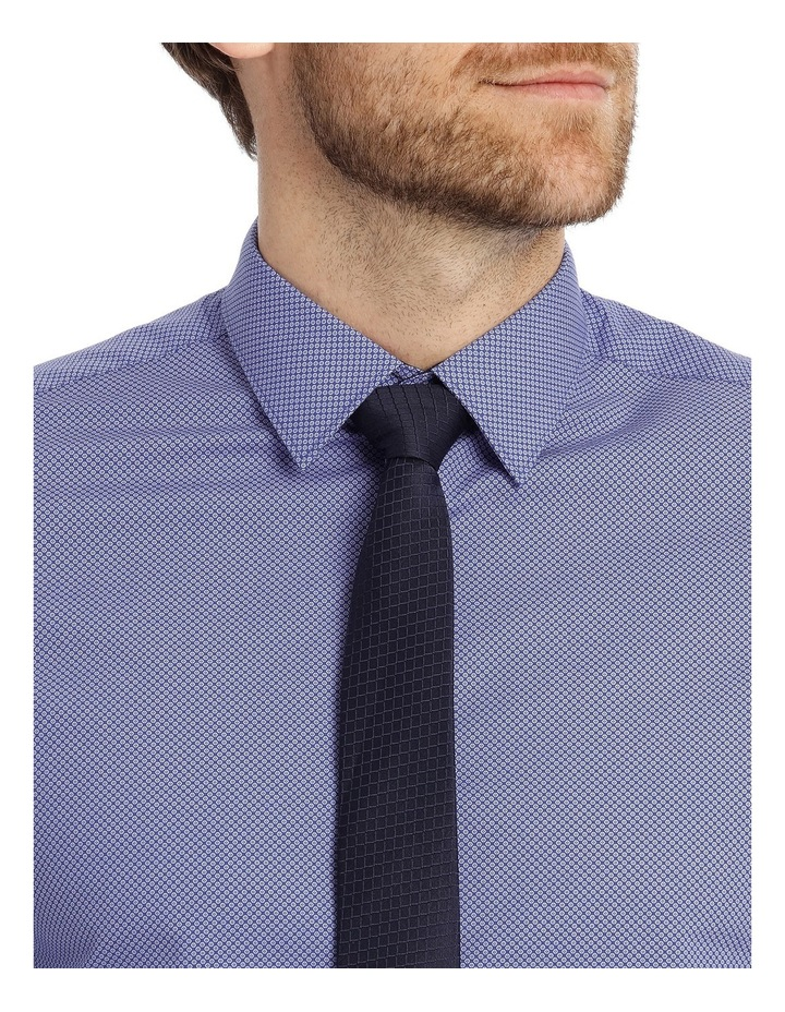 Tailored Fit Blue Hexagon Print image 7