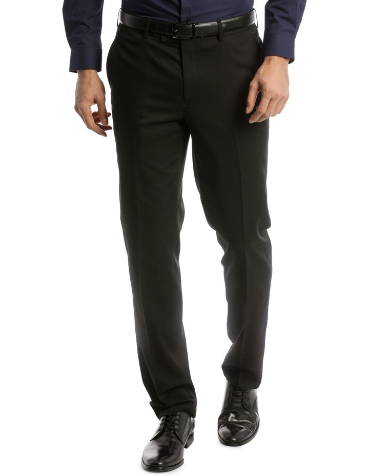 Tailored Fit Trouser Black Plain image 1