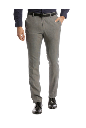 Blaq Slim Slim Fit Trouser Grey Textured | Tuggl