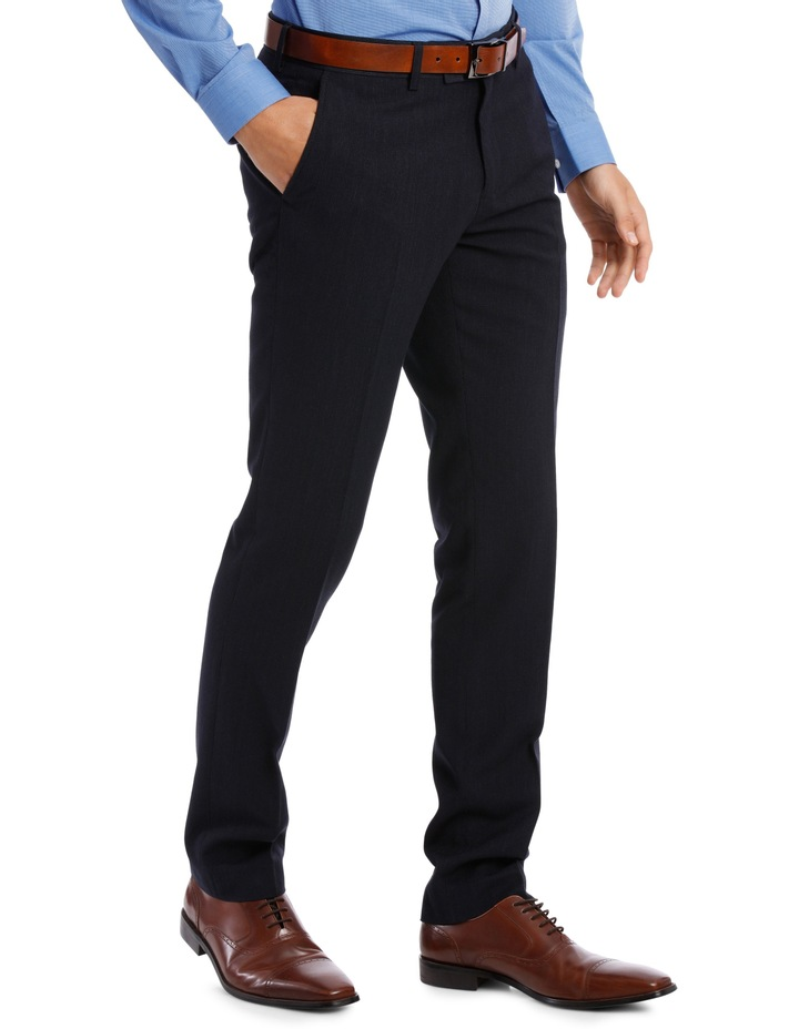 Fit Trouser Navy Mini Check BFTSS19101 image 2