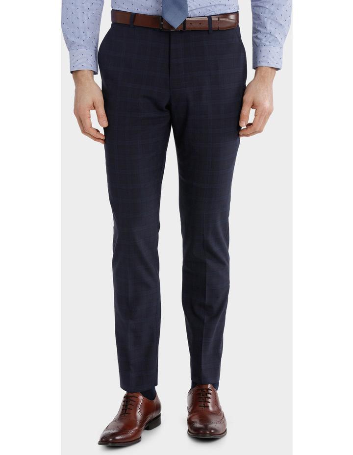 Blaq Slim Check Suit Trouser image 1