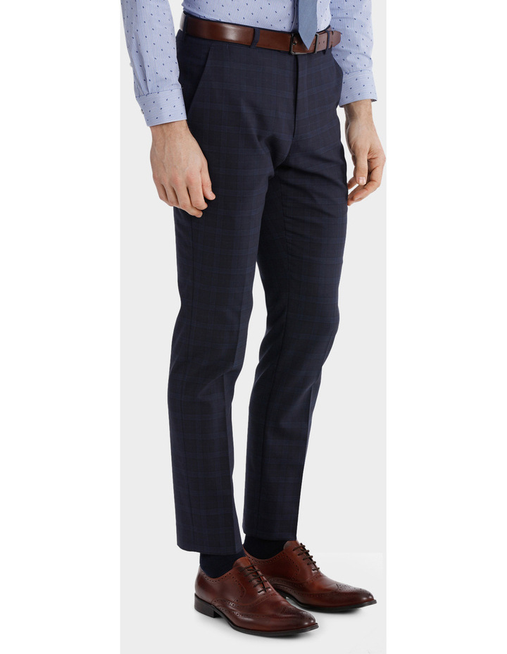Blaq Slim Check Suit Trouser image 2