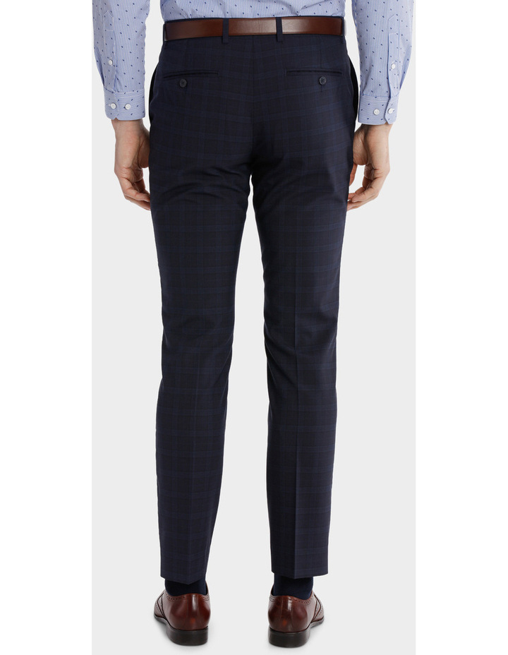Blaq Slim Check Suit Trouser image 3