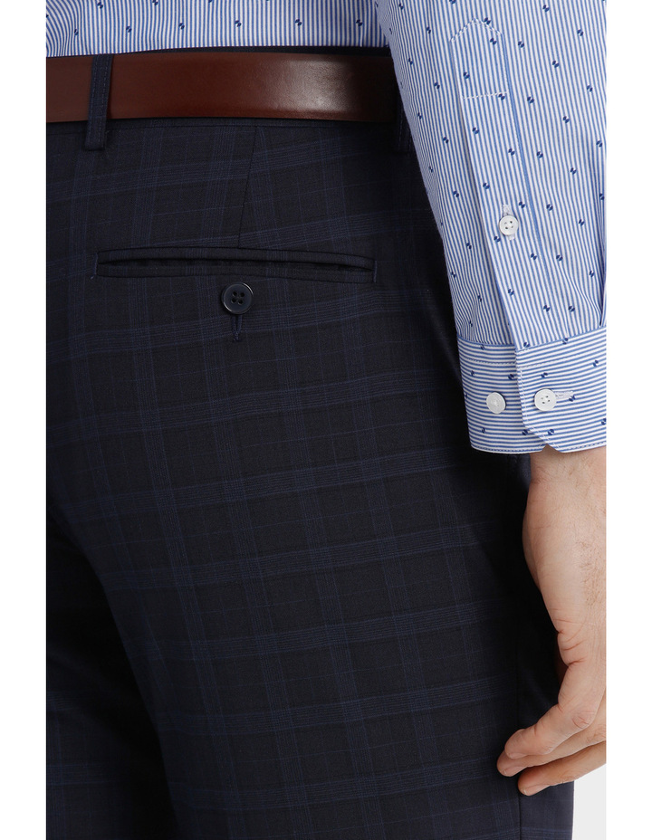 Blaq Slim Check Suit Trouser image 4