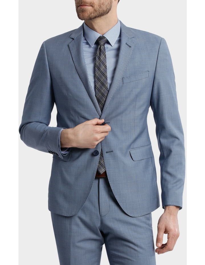 BLAQ Slim Sharkskin Suit Jacket image 1