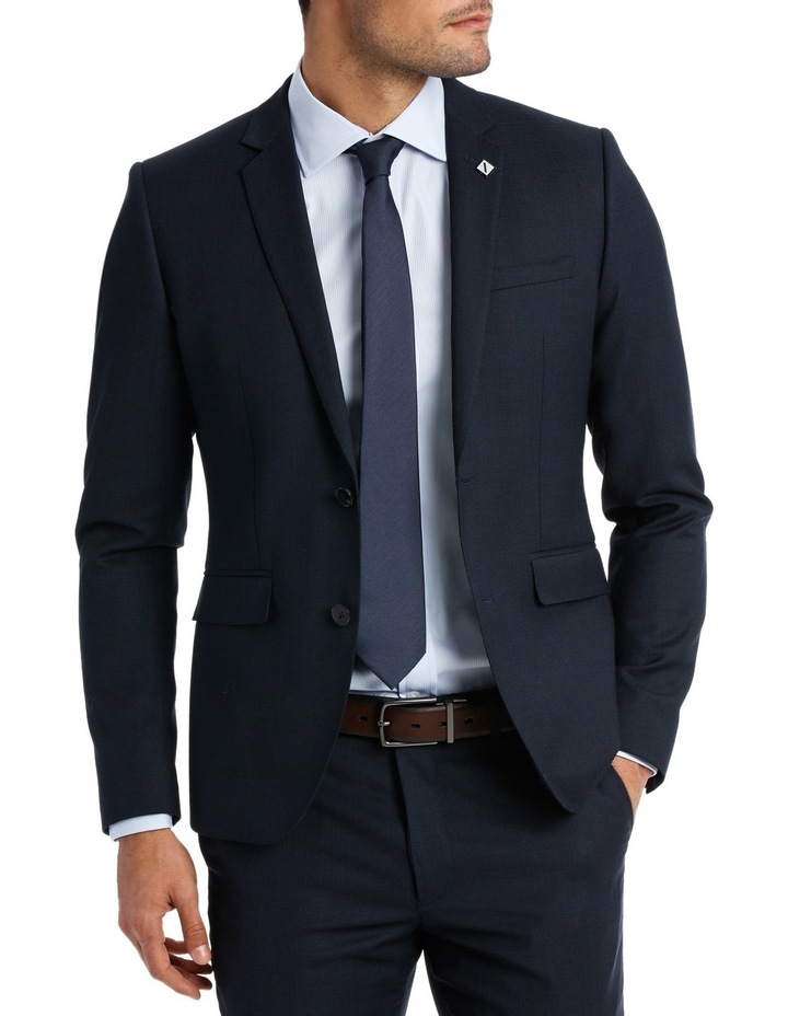 Slim Fit Birdseye Suit Jacket image 1