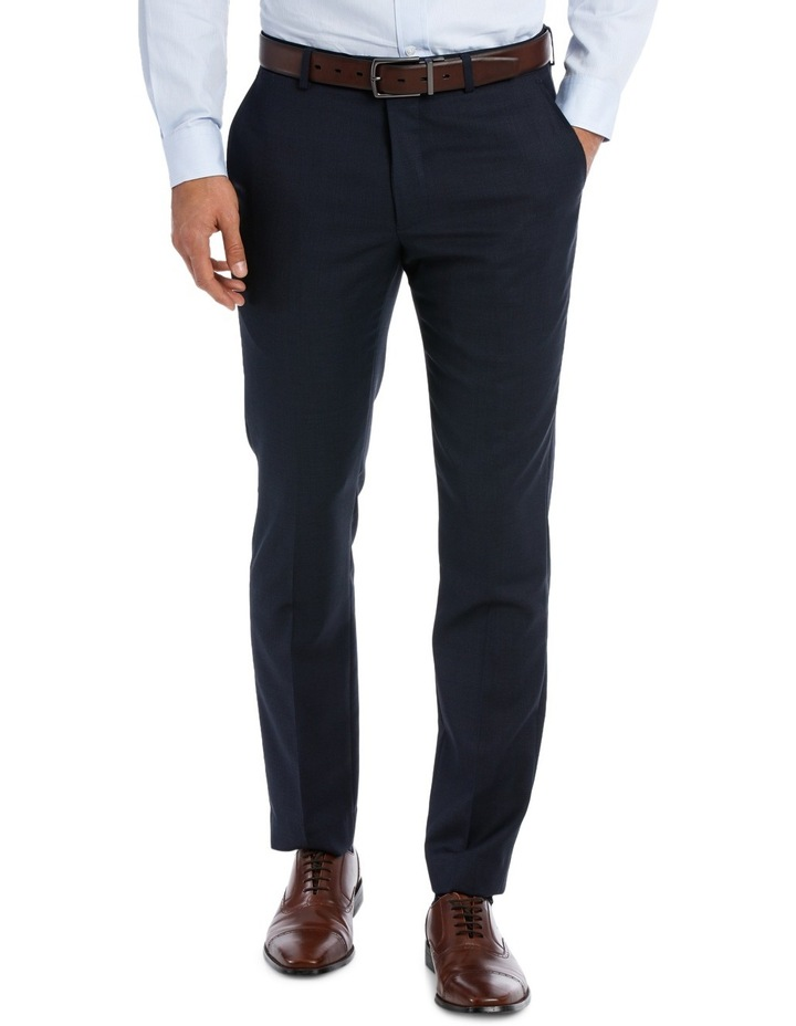 Slim Fit Birdseye Suit Trouser image 1