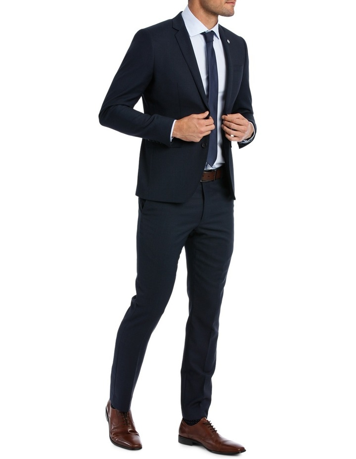 Slim Fit Birdseye Suit Trouser image 2