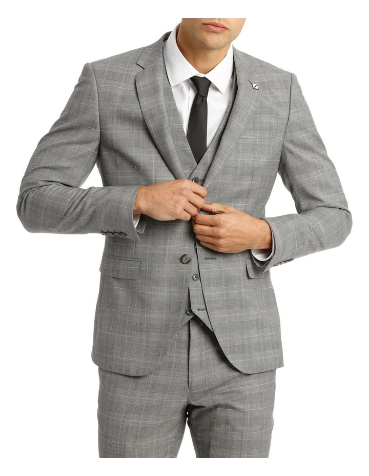 4f840a1db2 Slim Fit Check Suit Jacket image 1