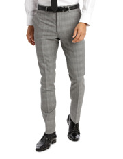 Slim Fit Check Suit Trouser