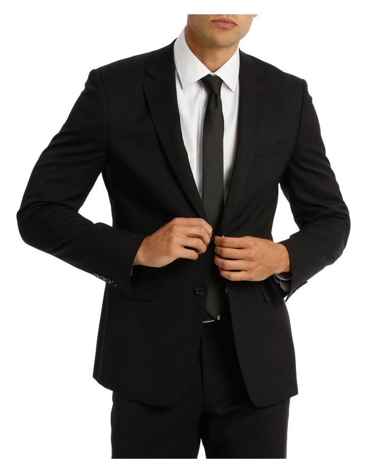 Tailored Fit Plain Suit Jacket 5Q7409 image 2