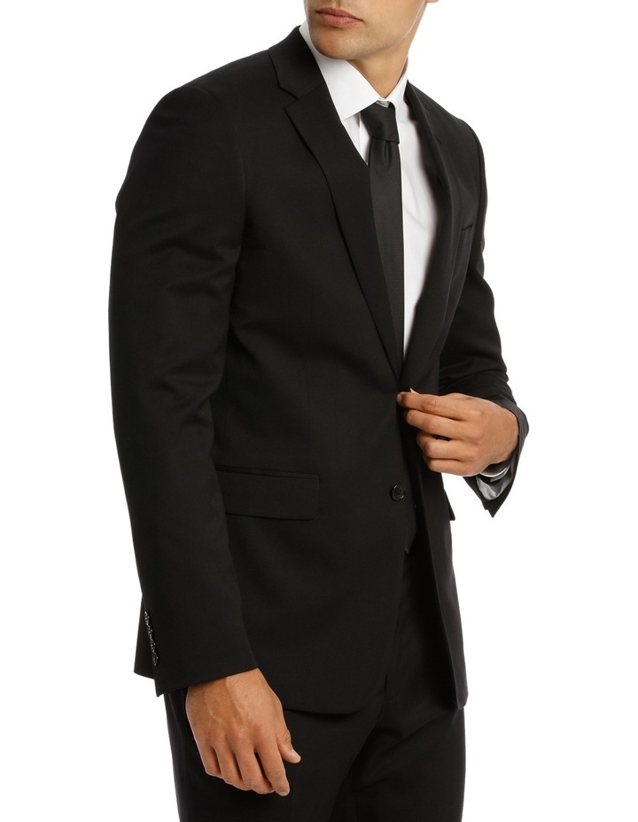 Tailored Fit Plain Suit Jacket 5Q7409 image 4