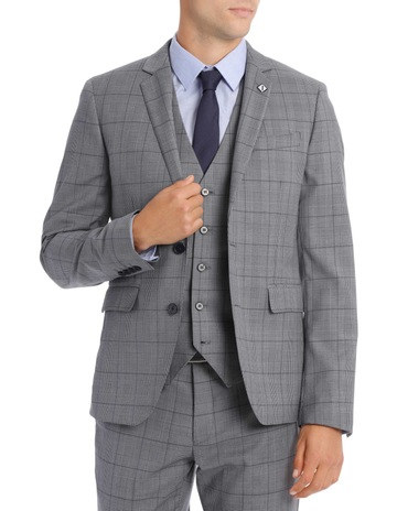4ba27c626 Blaq Slim Grey Check Suit Jacket BSW19008J