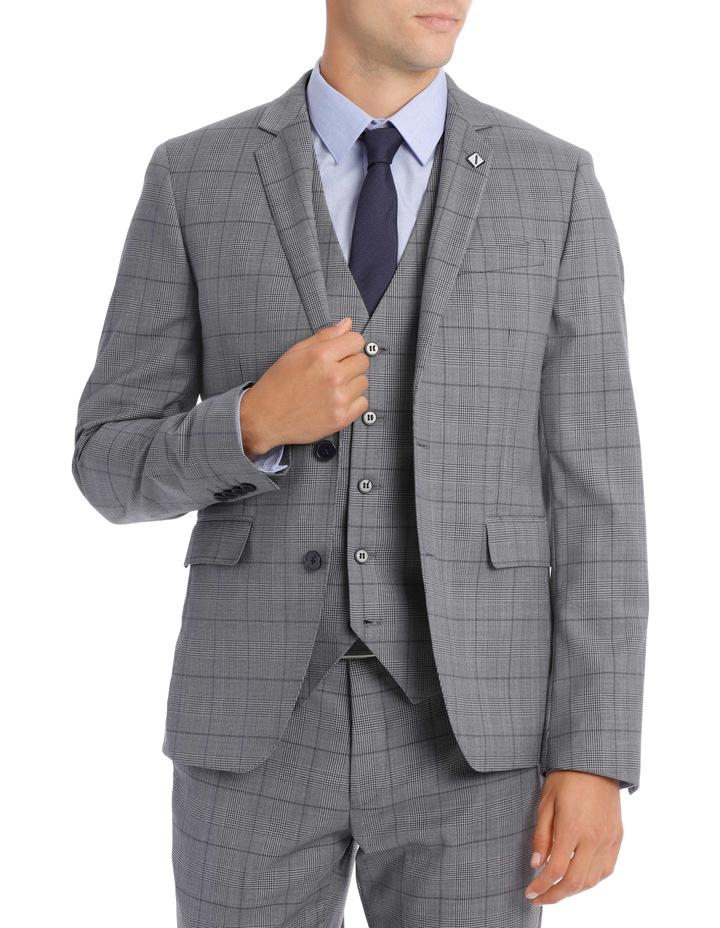 Grey Check Suit Jacket BSW19008J image 1
