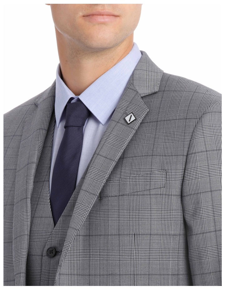 Grey Check Suit Jacket BSW19008J image 4