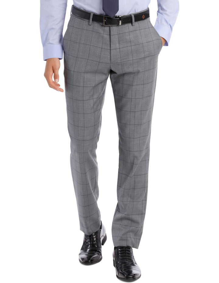 BLAQ SLIM BSW19008T GREY CHECK SUIT TROUSER image 1
