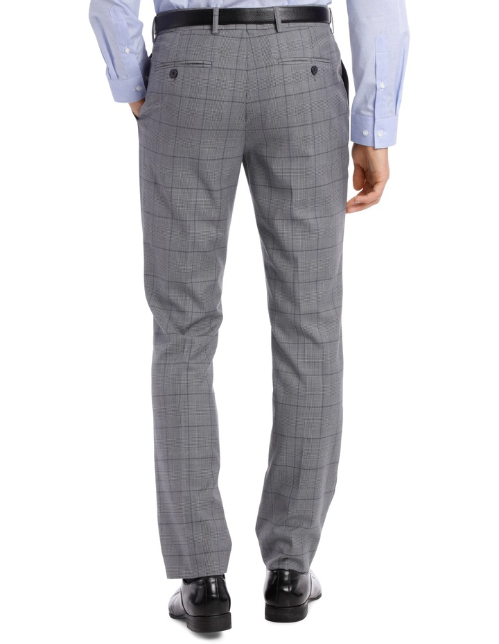 BLAQ SLIM BSW19008T GREY CHECK SUIT TROUSER image 3
