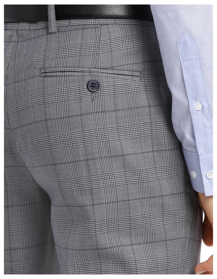 BLAQ SLIM BSW19008T GREY CHECK SUIT TROUSER image 4