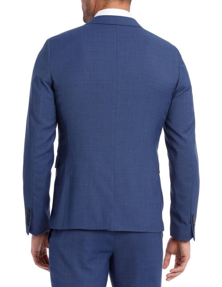 Slim Bright Blue Textured Suit Jacket image 3